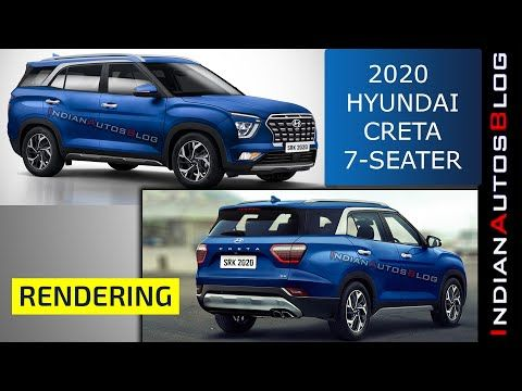 Hyundai Creta 7 Seater Render Could Launch In India Youtube In 2020 Hyundai Product Launch Seater