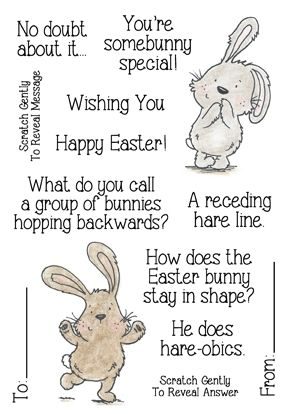 Inky Antics EASTER RIDDLES 2 Clear Stamp Set 11337MC Preview Image