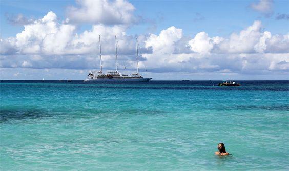 Petites Antilles: une croisière en voilier - Le Ponant, un luxueux trois-mâts français de 88 mètres de long pourvant accueillir un maximum de 64 passagers, offre cet hiver des croisières d'une semaine dans les Petites Antilles. Bienvenue à bord!  Photo Sarah Bergeron-Ouellet / Agence QMI