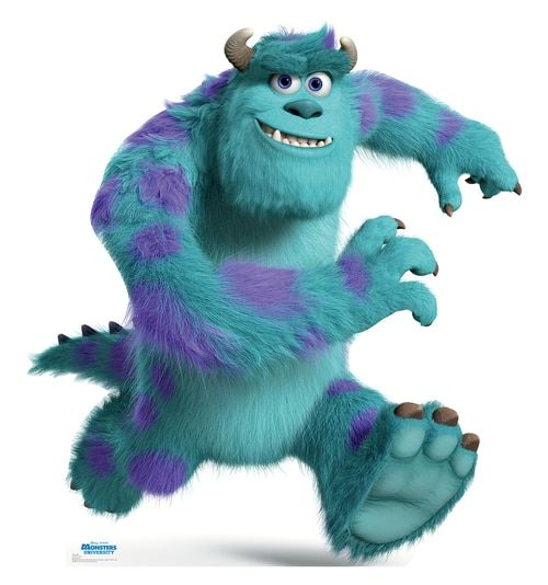 Sulley Disney Pixar Monsters University Cardboard Cutout 1498 Monster University Monsters Inc Characters Monsters Inc