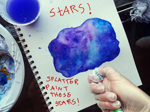17 best images about diy drawing random how to paint for How to paint galaxy