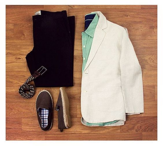Start your week right with this curated look: 1. Gingham check shirt 2. Linen blazer 3. Stretchable Corduroy pants 4. Stretchable webbed belt 5. Casual loafers.  #zobelloman #zobelloclothing #zobellodotcom #onlineshop #clothingbrand #streetfashion #streetstyle #casualwear #casualmondays #getthelook #summer2016 #instalike #instadaily #instalove #fashiongram #travelgram #menswear #mensfashion