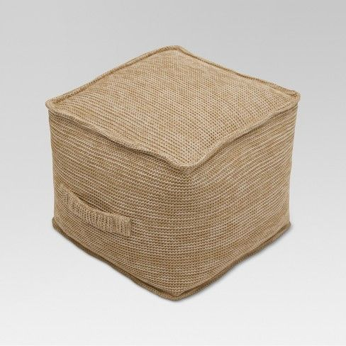 Outdoor Pouf Natural Woven Threshold Outdoor Pouf Natural
