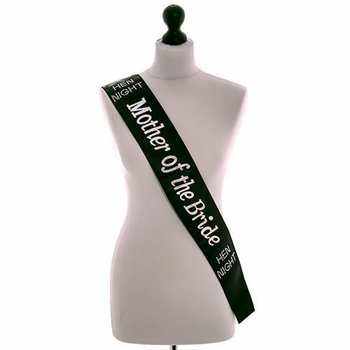 1 x BLACK WITH PINK WORDING HEN PARTY SASH GIRLS NIGHT OUT ACCESSORY