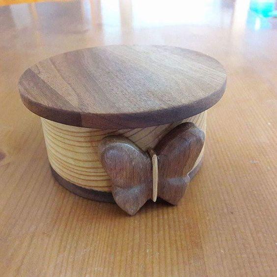 Boîte en bois #boite #bijoux #bois #chantournage #sculpture