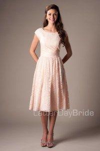 Modestos vestidos de dama de honor de: Julie