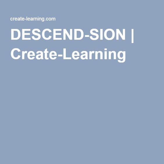 DESCEND-SION | Create-Learning