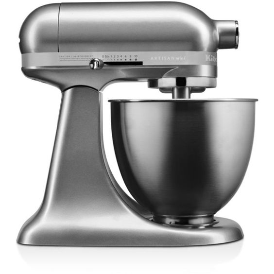 KitchenAid Artisan Mini Stand Mixer (1.070 BRL) ❤ liked on Polyvore featuring home, kitchen & dining, small appliances, contour silver, kitchen aid standing mixer, mini kitchen aid mixer, kitchenaid, kitchenaid standmixer and kitchen aid mixers