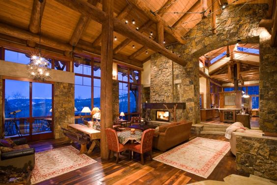 Vaulted Ceilings At A Luxury Ski Lodge In Snowmass