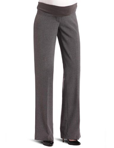 Three Seasons Maternity Women's Dress Pant, Grey, Large. Adjustable elastic tab inside the waistband great fit, comfortable to wear, easy care