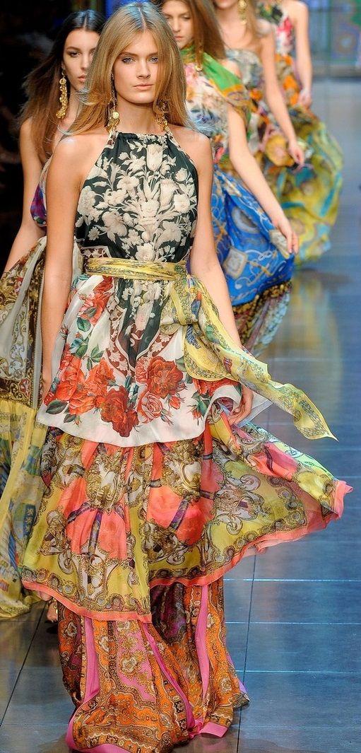 Dolce & Gabbana scarf- printed maxi