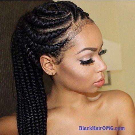 Lemonade Braids With One Side Braid Google Search Natural Hair Styles Hair Styles Cornrow Hairstyles