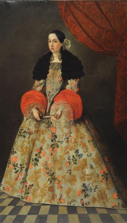 Anónimo Retrato de dama Fines del siglo XVII, Spanish: