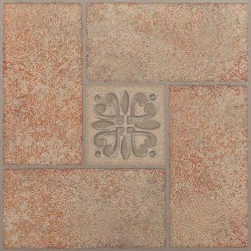 "TRAVERTINE marble STONE self STICK adhesive VINYL floor TILES 40 pcs 12/"" x 12/"""
