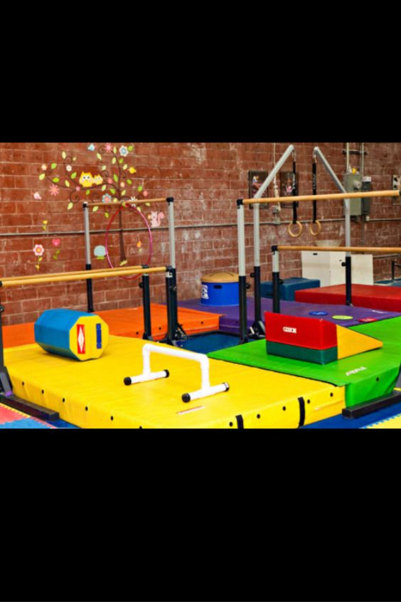 My basement gymnastics room at my dream house gymnastics for Basement jungle gym