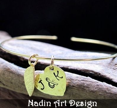 Freundschaftsarmband. Gold Bettelarmband von NadinArtDesign auf DaWanda.com