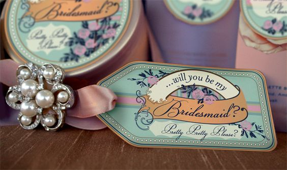 Will you be my bridesmaid? broaches