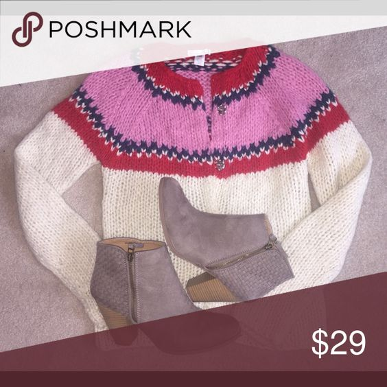 ANTHROPOLOGIE Lux Lux Lux SWEATER Cardigan MEDIUM So Chic!! Perfect for the Colder Months!! Anthropologie Sweaters