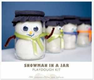 How to make a snowman in a jar playdough kit