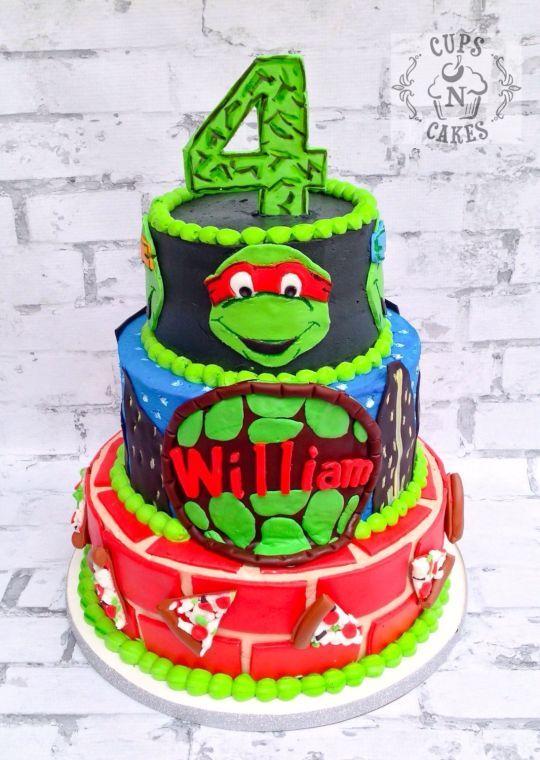 Tortugas Ninja cuarto cumpleaños: