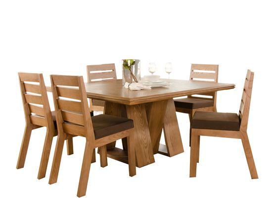 Comedor en madera de encino en color maple Carpintería y fabrica de