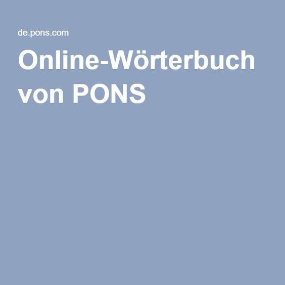 Online-Wörterbuch von PONS