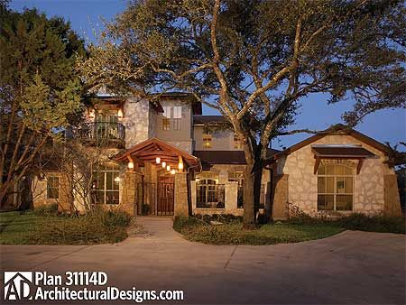 Front courtyard courtyard entry and house plans on pinterest for Courtyard entry house plans