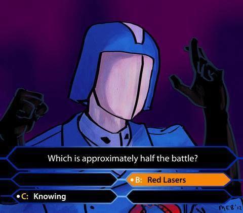 Cobra Commander from G.I. Joe on a trivia show.