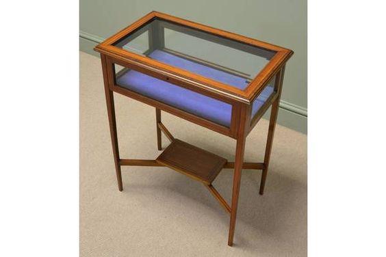 Elegant Small Satinwood Edwardian Bijouterie Jewellery Table | Vinterior London  #antique #vintage #design #interiors