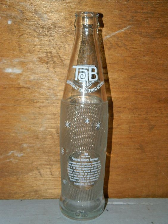Vintage tab soda bottle pop bottle glass bottle by for Glasses made out of bottles