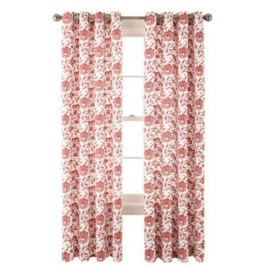 jcp | JCPenney Home™ Flora Grommet-Top Cotton Curtain Panel
