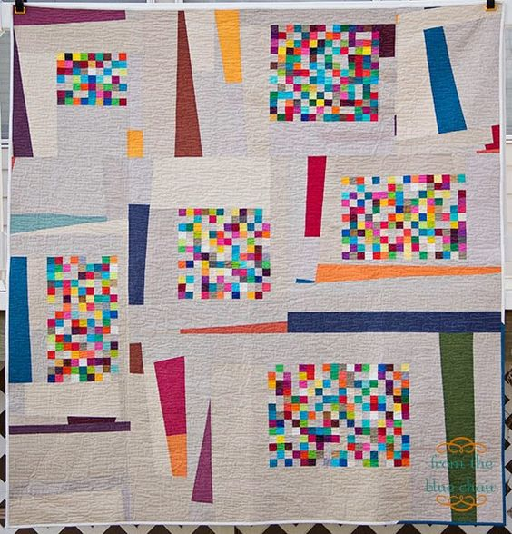 from the blue chair: Pixel Project--The Confetti Quilt