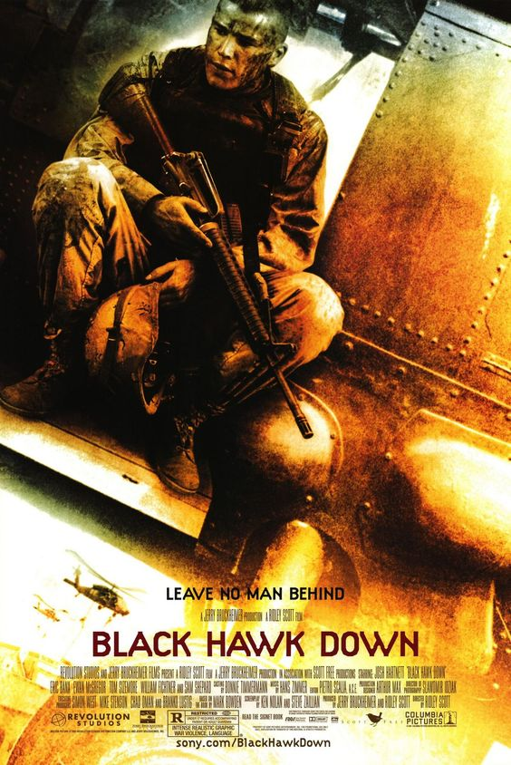 Black Hawk Down is a 2001 American war drama film directed by Ridley Scott. Description from pelikulatrailer.blogspot.com. I searched for this on bing.com/images