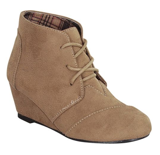 Suede fall booties