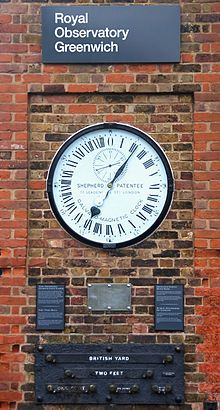 The Shepherd Gate Clock at the Royal Observatory, Greenwich     via Wikipedia