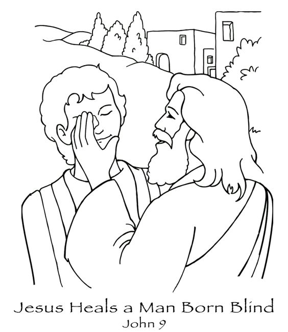 Jesus Heals A Blind Man Coloring Pages Printable Jesus Downlload