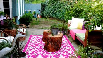 Venice Rugs, indoor outdoor from an outdoor space i designed for @hgtv