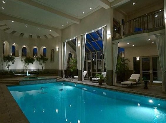 Mansions denver and pools on pinterest for Swim spa in garage