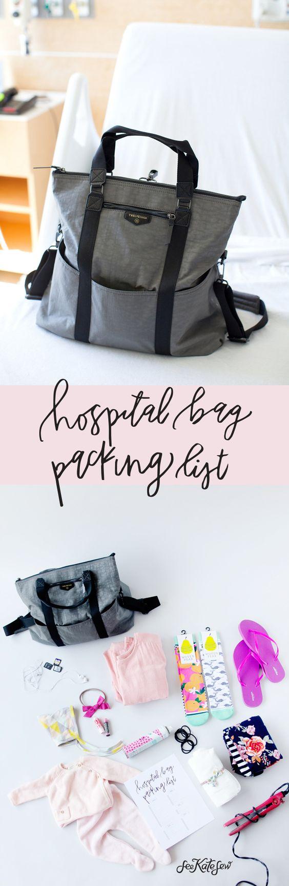 Printable Hospital Bag Packing List   See Kate Sew