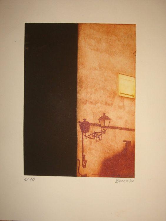 Farola 1 (2007). Fotopolímero sobre papel (29,7 x 21 cm.).