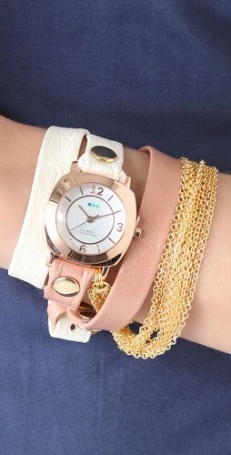 "La Mer ""Joshua Tree"" chain wrap watch"