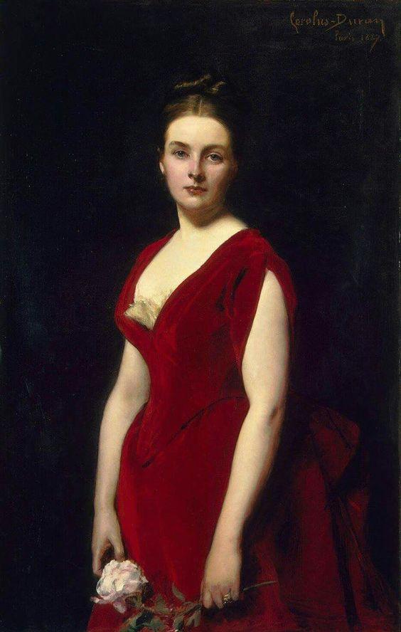 Carolus-Duran, Emile Auguste Charles. 1838-1917 Ritratto di Anna Obolenskaya, 1887, olio su tela, ( 120x77,5 cm )