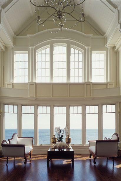 Room with a view.: Big Window, Beach House, Beautiful Window, Livingroom, Living Room, Dream Home, Ocean View