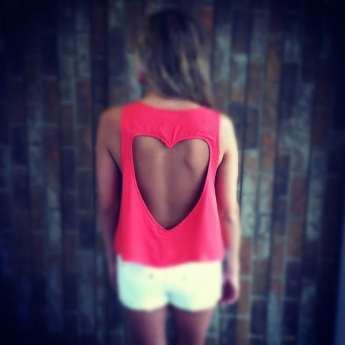 Heart cut out tank top