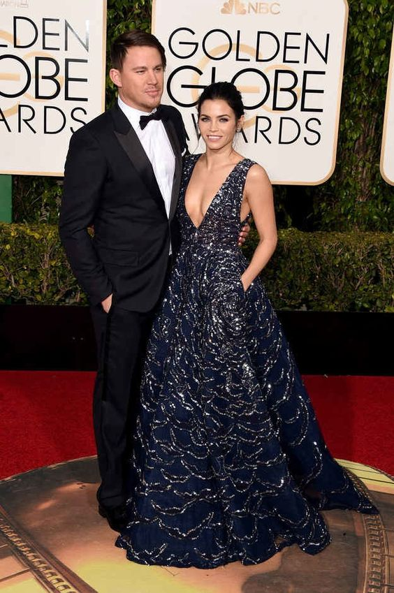 Jenna Dewan Tatum @ Golden Globes 2016, Zuhair Murad (with her lovely husband ;-) )