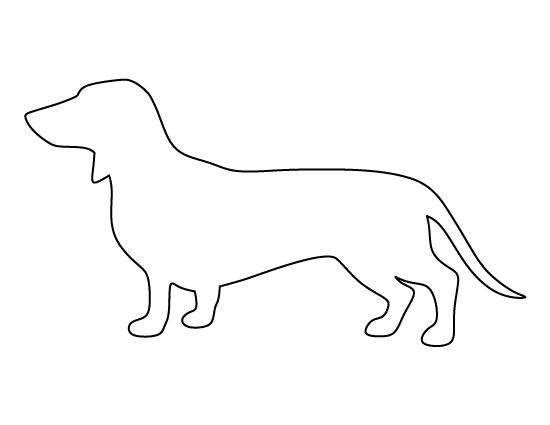image gallery dachshund outline