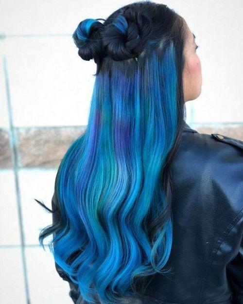 56 Gorgeous Light Blue Hairstyles For Black Women Underlights