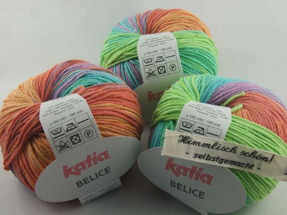 Wolle - Katia Belice Baumwollgarn Farbe 317 - ein Designerstück von Wollehimmel bei DaWanda