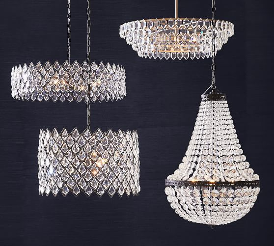 Arden Crystal Chandelier In 2020 Crystal Chandelier Wood Bead Chandelier Crystal Hoops