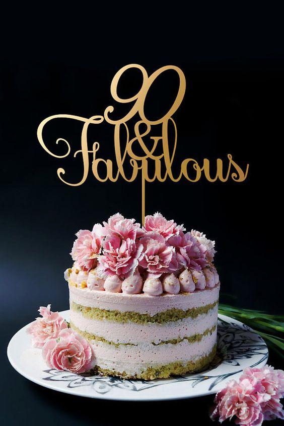Birthday Cake Topper Personalised Birthday Cake Topper 90th